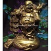 Bronze Happy Buddha Figurine with Coins