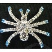 CLEAR AUSTRIAN CRYSTAL INSECT ANIMAL SPIDER BROOCH PIN