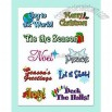 CLEAR CHRISTMAS EXPRESSIONS STICKERS