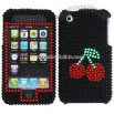 Cherry Design Rhinestone Protector Case for Apple iPhone 3G/ 3GS