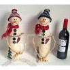 Christmas Gift - Snowman Winebottle Box