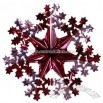 Christmas Red Foil Snowflake 16 Inch