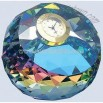 Color coated gem cut clock