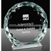 Crystal diamond-edge disc award
