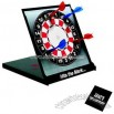 Desktop magnetic dart board with 4 darts and black case
