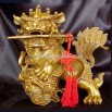 Feng Shui Bronze Guardian Foo Lions with Swords