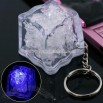 Flash LED Ice Cube Key Chain (Blue)