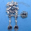 Flower-shaped Brooch with Silver Plating