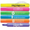 Fluorescent barrel broadline highlighter