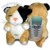 Fun Friends Puss Puss Cat Plush Animal Bar Cell Phone Cover