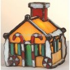 Gingerbread House Tiffany Accent Lamp