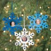 """God Made You Unique"" Snowflake Photo Frame Ornament"