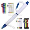 Happy Hooker - Solid color ballpoint pen with black trim and carabiner clip