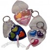 Heart shape lip gloss key holder