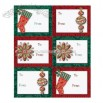 Holiday Adhesive Gift Tag Labels