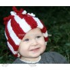 Holiday Peppermint Bobble Beanie Hat