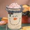 Holiday Snowman Dip Bowl with Base