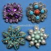 Jeweled Costume Brooches