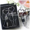 Joining of Two Hearts Wine Wedding Favors Set