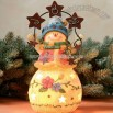 Joy Snowman Christmas Lamp