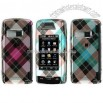 LG Voyager 10000 Diagonal Check Design Crystal Case