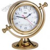 Large lacquered brass alarm clock