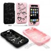 Love Transparent Laser Cut Shell Case for iPhone 3G