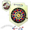 Magnetic dart game and note board