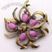 Metal Alloy Costume Brooch
