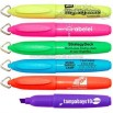 Mini fluorescent barrel highlighter with removable key chain clip