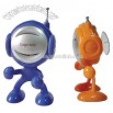 Mini man FM radio with suction cup