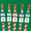 Molded Snowman Pencil Grips