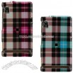 Motorola Droid A855 Crystal Check Designed Case