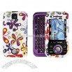 Motorola Rival A455 (Verizon) Color Butterfly Snap-On Faceplate Cover Case