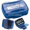 Multi function pedometer with hinged cover
