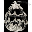 Nativity In An Egg Shaped House Spun Glass Ornament