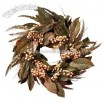 Nearly Natural 24-Inch Artificial Feather and Berry Wreath