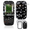 Palm PRE Cell Phone Black/Silver Stars Design Protective Case Faceplate Cover
