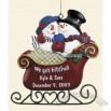 Personalized Snow Couple in Love Ornament