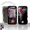 Pink Vine Tree Red Heart Design Snap on Hard Cover Protector Faceplate Skin Case for Verizon Motorola Rival A455 Belt Clip