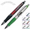 Retractable black ink pen with rubber grip