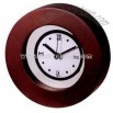 Round wooden desk clock