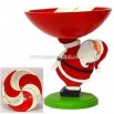 Santa Wood Candy Bowl