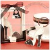 Sleek and Chic Leather Stiletto keychain Wedding Favors