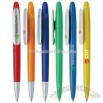 Slim plastic twist action ballpoint pen