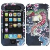 Snake Watercolor Design Executive Leather Case for Apple iPhone 3G/3GS