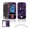 Snap On Protector Case for Motorola Rival A455 Purple Zebra