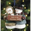 Snow Couple Ornament