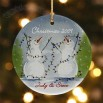 Snow Couple Personalized Ornament