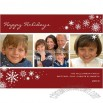 Snow Flurries Scarlet Holiday Card